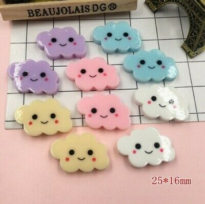 5 X Mixed Cute Flatback Cloud Decoden Cabochon Embellishment Arts And Crafts • 1.50£