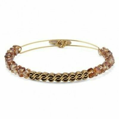 £23.32 • Buy ALEX And ANI Indie Spirit COPPER WINDING ROAD Beaded GOLD Wrap BRACELET