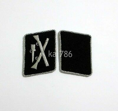 WW2 German Elite Officer Division Dirlewanger Collar Tabs ADG • 14.75£