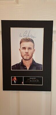 GARY BARLOW Signed Autograph Mounted Photo Repro A4 Print • 2£