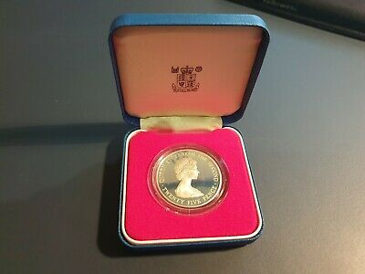1978 Royal Mint Ballywick Guernsey Silver Proof Coin 25p • 0.99£