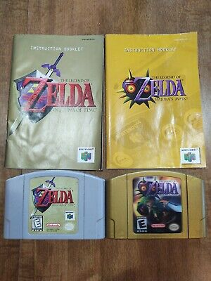 $72 • Buy Legend Of Zelda: Ocarina Of Time And Majora's Mask With Manuals  (N64, 1998)