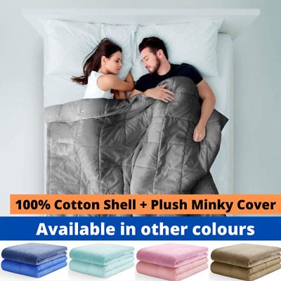 AU69 • Buy Weighted Blanket - Kids Adults - Double/Queen Size 2.2, 3.2, 5kg 7kg 9kg Cotton