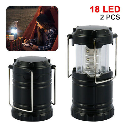 AU19.59 • Buy 2X 18 LED Portable Camping Lamp Torch Battery Operated Lantern Tent Night Light