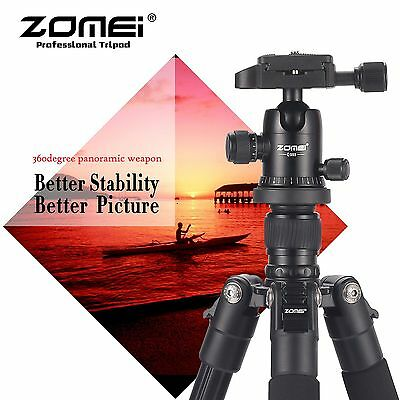 AU62.99 • Buy ZOMEI Q555 Portable Aluminium Travel Tripod&BallHead For Canon Nikon DSLR Camera