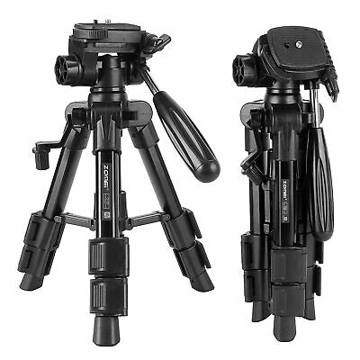 AU29.99 • Buy ZOMEI Q100 Pro Portable Table Top Mini Tripod&Pan Head Universal For DSLR Camera