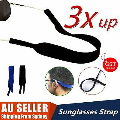 AU3.79 • Buy UP 3Pcs Sunglasses Straps Sports Band Reading Glasses Neck Cord Neoprene Eyewear