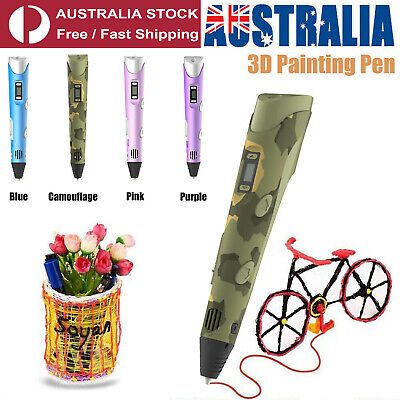 AU19.89 • Buy Digital Display Intelligent High Temperature 3D Printing Pen Kit With USB Cable