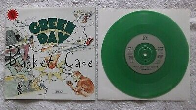 Green Day Basket Case 7  Single LTD Green Vinyl/Poster Sleeve Never Played • 10.57£