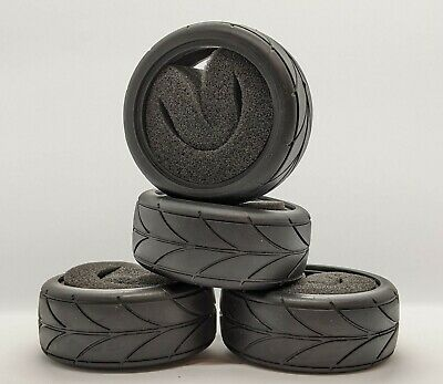 1/10 RC Car Racing Tyre Set. High Grip With Foam Insert. 52mm X 26mm UK Seller • 7.99£