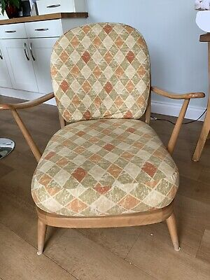 Vintage Retro  Ercol Windsor Armchair With Cushions • 72£