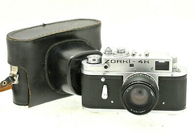 Zorki 4K Vintage Rangefinder Camera With Jupiter-8 Lens In Leather Case #1350 • 54.99£