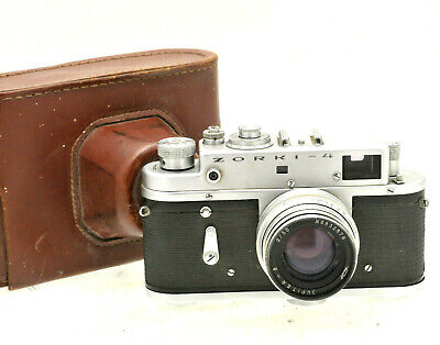 ZORKI 4 35mm Rangefinder Camera With Jupiter 8 Lens And Case #9312 • 49.99£