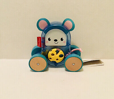 NEW Fisher-Price Rollin' Surprise Mouse, Push-Along Toy Vehicle For Baby • 18.24£
