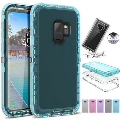 $ CDN6.04 • Buy SHOCKPROOF Clear 360° Phone Case Cover For Samsung Galaxy Note 9 S7 S8 S9 Plus