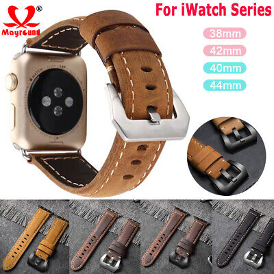 $ CDN10.17 • Buy For Apple Watch IWatch Series 5 4 3 2 1 Retro Genuine Leather Band Strap 40/44mm