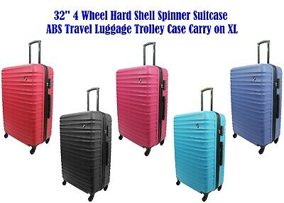 32  4 Wheel Hard Shell Spinner Suitcase ABS Travel Luggage Trolley Case Carry On • 44.99£