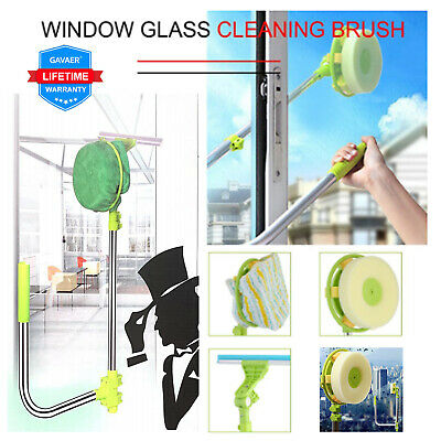U-type Telescopic  Extendable High Rise Window Cleaner Glass Dust Brush Squeegee • 16.99£