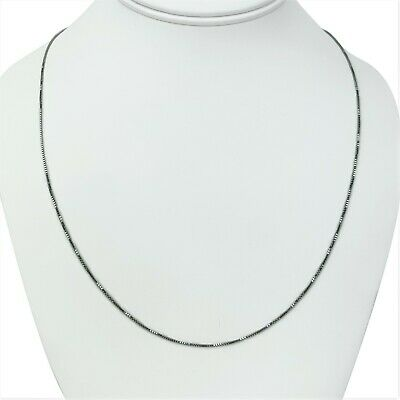 $160.55 • Buy Brand New 14k White Gold Thin 1mm Box Link Chain Necklace Italy 22