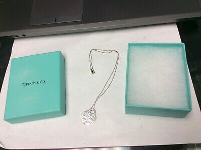 $75 • Buy Tiffany & Co Script I LOVE YOU Heart Sterling Silver Necklace 16
