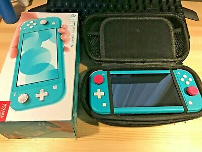 AU270 • Buy Nintendo Switch Lite With Carry Case And Stick Grips With Original Box
