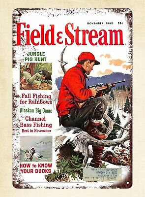Plaque Metal Signs Cover Print Of Field And Stream 1960 Metal Tin Sign • 11.57£