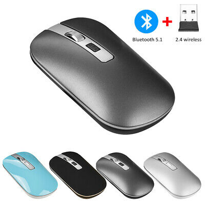 AU15.99 • Buy Wireless Bluetooth Mouse 1600DPI Silent Dual Mode For IPad Mac Tablet PC Laptop