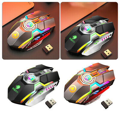 AU21.99 • Buy Wireless Mouse Gaming Led Laser Usb Optical Game Rechargable Silent Laptop G80