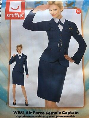 WW2 1940s LADIES WARTIME LAND GIRL PILOT FANCY DRESS COSTUME OUTFIT • 25.99£