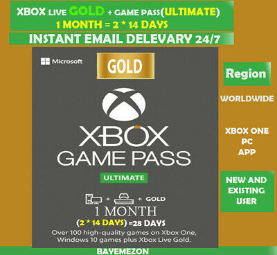$3.79 • Buy Xbox Live Gold + Game Pass (Ultimate) 1 Month (2x 14 Days) Code Instant Delivery