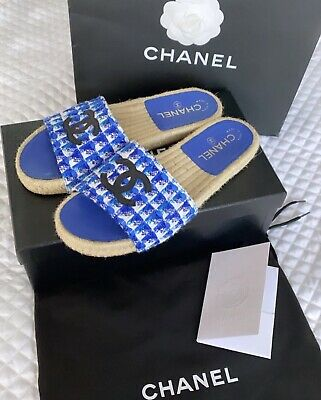 AU207.50 • Buy Chanel Mules Shoes Flats Sz37 Sz7 AU UK5