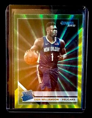 $149.99 • Buy 🔥ZION WILLIAMSON 2019-20 Donruss Green Yellow Laser Parallel Rookie Card RARE🔥