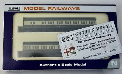 Dapol N Coaches GWR B Set Limited Edition No.187 Of 250 New • 14.50£