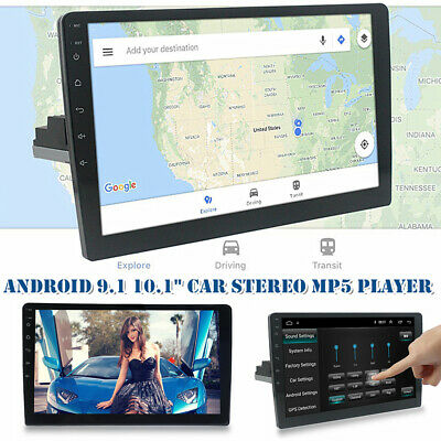 $175.09 • Buy 10.1  Android 9.1 1 DIN 12V Car Bluetooth Stereo Radio MP5 Player GPS Navigation