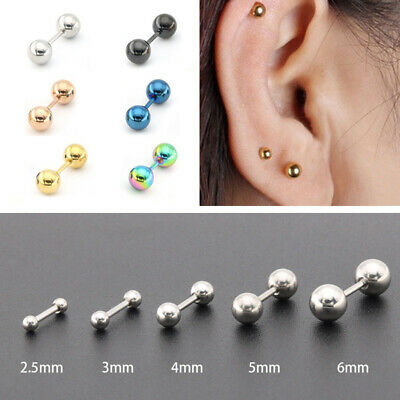 AU2.99 • Buy Surgical Steel 316l Ball Labret Lip Ring Helix Cartilage Earring Nipple Stud