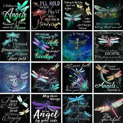 AU7.11 • Buy Dragonfly DIY Full Drill 5D Diamond Painting Embroidery Cross Stitch Home Decor