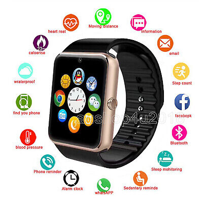AU22.59 • Buy Bluetooth Smart Watch Wrist Phone Call Camera Touch Screen For Android IOS Kids
