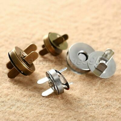 Round Sewing Magnetic Clasp Fastener Snaps Button For Purse Bag Craft Fittings • 2.88£