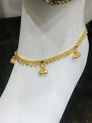 £9.99 • Buy GOLD Simple Ankle Chain Anklet Payal Indian Bollywood Anklets Pair