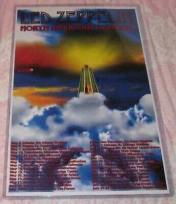 $13.99 • Buy Led Zeppelin 1973 North American Tour Replica Concert Poster