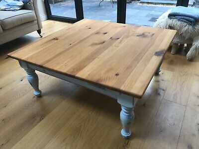 Solid Pine Table, Shabby Chic Lounge/ Coffe Table Chalk Painted • 21.40£