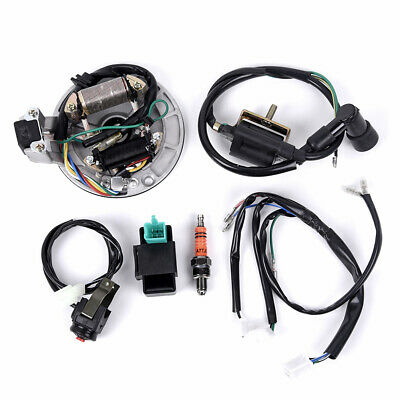 $40.94 • Buy For 50-125cc Kick Start Dirt Bike Wire Harness Wiring Loom CDI Coil Magneto Kits