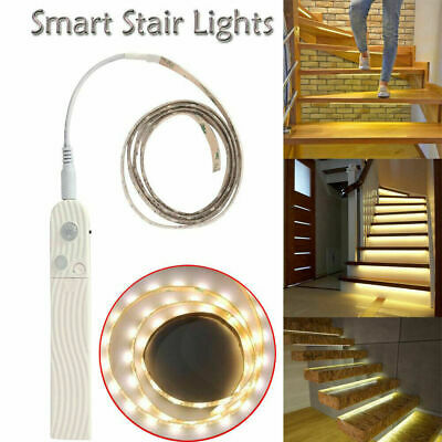 $7.99 • Buy Battery Powered LED Strip Lights PIR Motion Sensor Closet Stair Wardrobe Lamp US