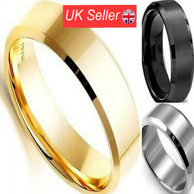 Men New Bridal Wedding Titanium Jewelry Band Stainless Steel Ring • 2.81£