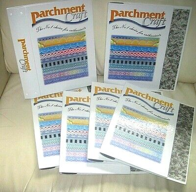 6 PARCHMENT CRAFT Magazine Binders For Archive Copies  Now Discontinued / MINT • 5.99£