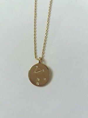 Gold Necklace Fashion Jewellery Libra Star Sign Pendant  • 2.49£