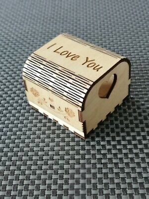 Wooden Engagement Ring Box • 12.99£