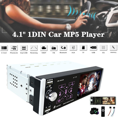 $56.29 • Buy 4.1  Car MP5 Single Spindle Player Reversing Audio/Video BT Rear View Dash Parts