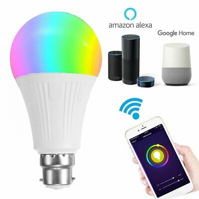 AU18.14 • Buy WiFi Smart LED Light B22 Bulb Globe For Alexa Google Home RGB Colour Lamp AU