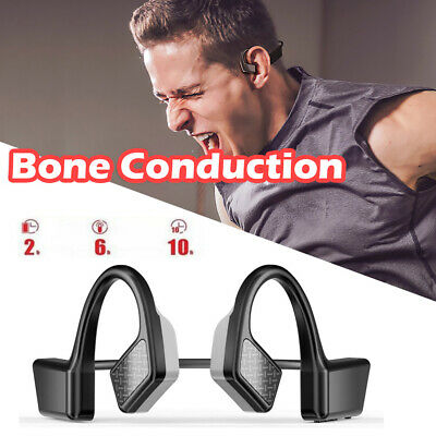 Bone Conduction Headphones Bluetooth 5.1 Sports Stereo Wireless Earphone Headset • 11.70£